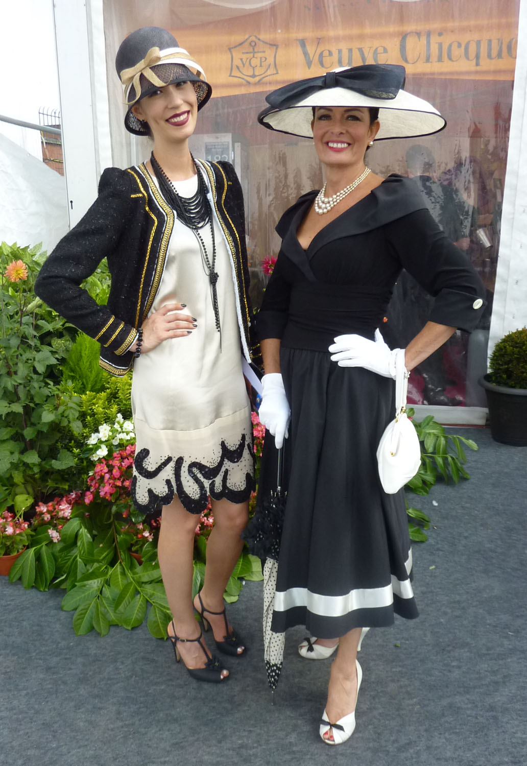 Comparing vintage-styled outfits with Annemarie Leake, winner of the Best Dressed Mature Lady award.