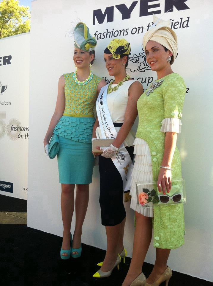 The WA winners from 2012, with Emma Reynolds (centre) taking home the top prize. Photo from Headonism Millinery's Facebook page.