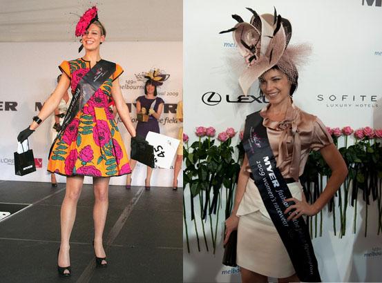 Kelli Odell in 2009, left, and national winner Elizabeth Pollard, right.