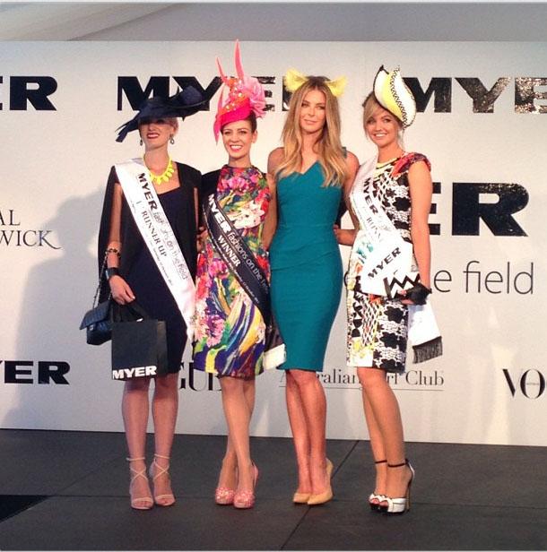 From left: Natasha Kent, winner Kelli Odell, Jennifer Hawkins and Louise Struber.
