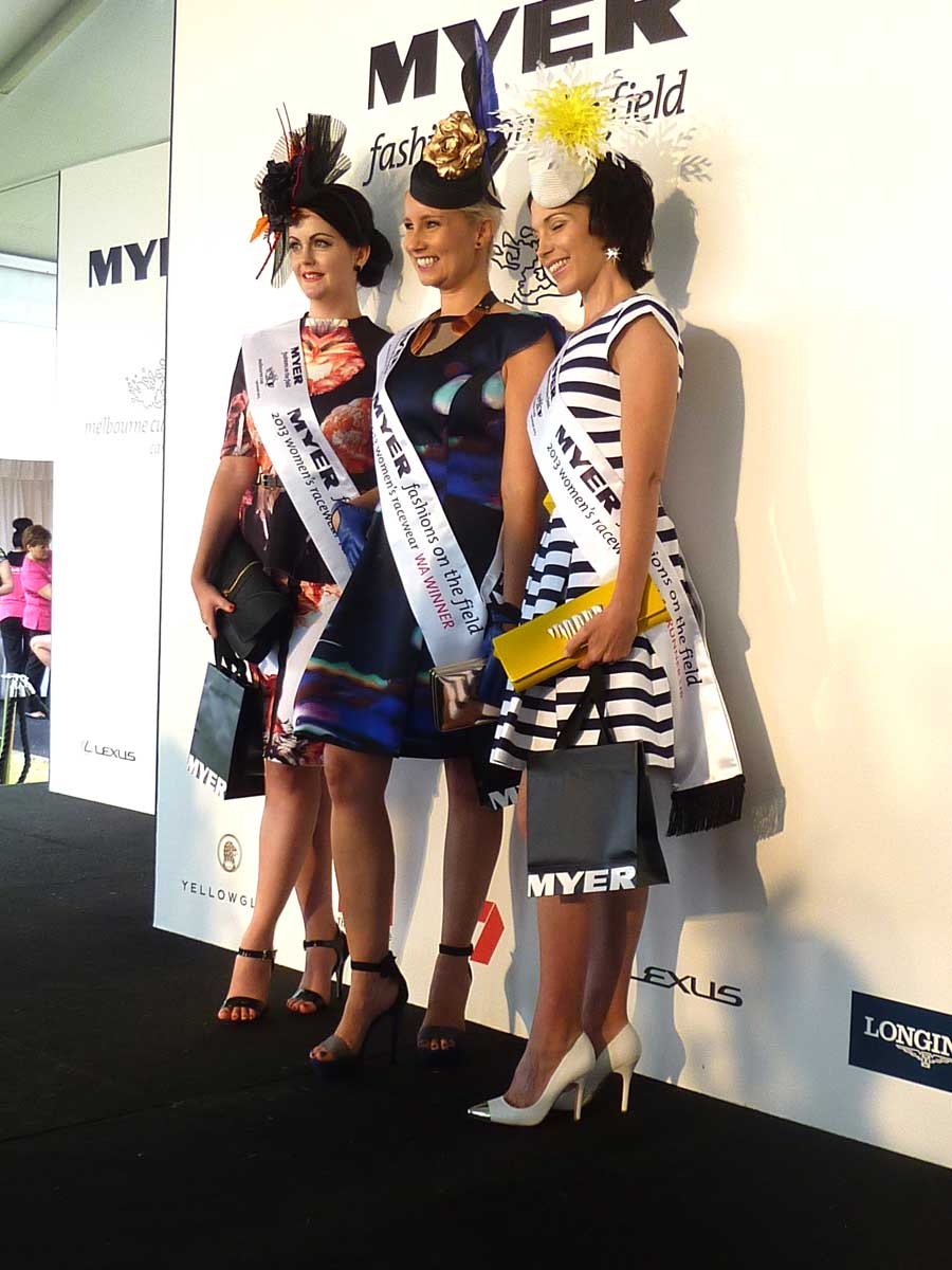 The winners L-R: 2nd runner-up Stephanie Cutmore, winner Kate Watts and 1st runner-up Elizabeth Winlo.