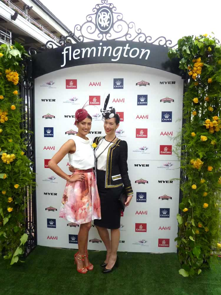 Lisa with Myer Fashions on the Field Ambassador Rebecca Bramich.