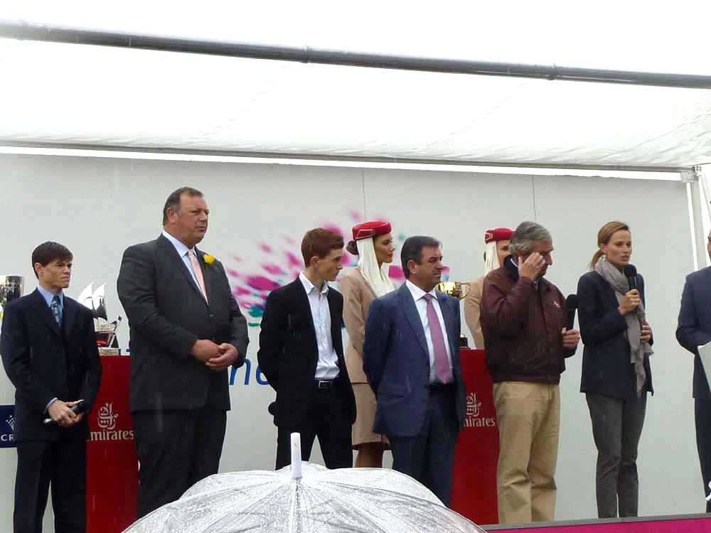 The racing panel, from left to right: Craig Williams, Mike Moroney, Chad Schofield, Mark Kavanagh, Luca Cumani and Francesca Cumani.