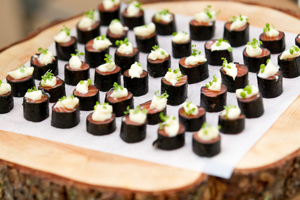 Stylish canapés from VRC accredited caterer The Big Group. Photo from www.thebiggroup.com.au.