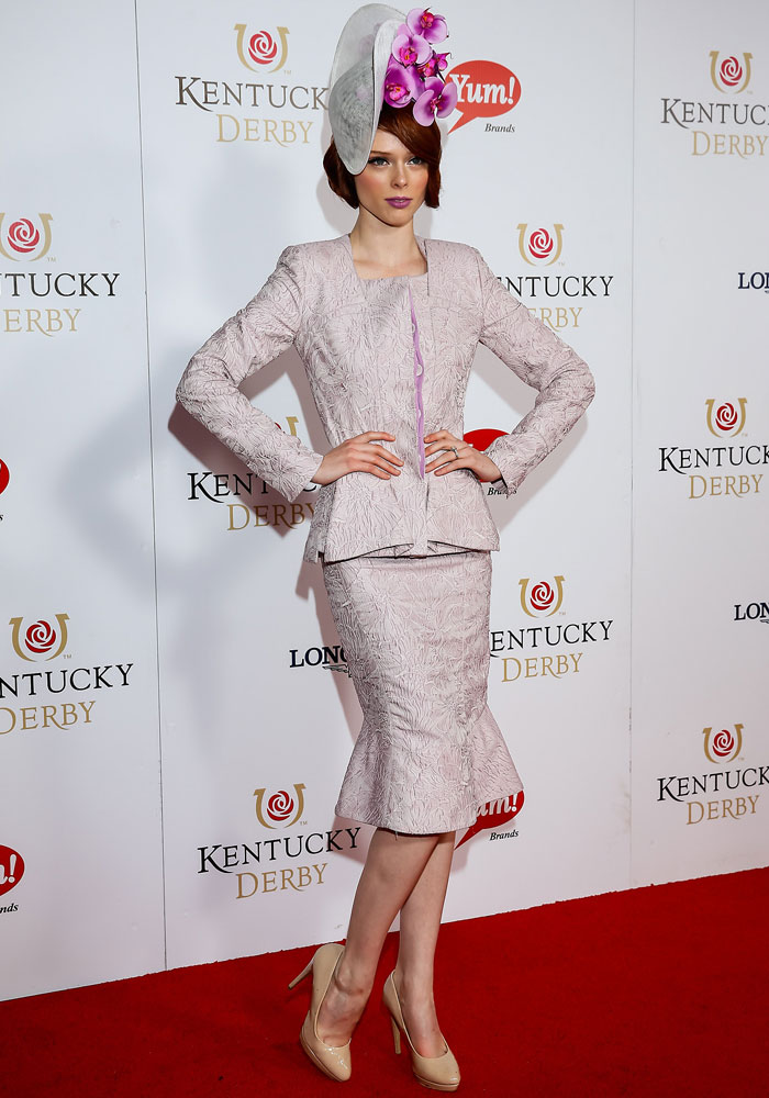 Coco Rocha pictured early this year at the Kentucky Derby.