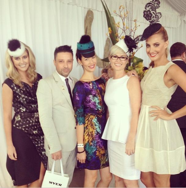 L-R: MC Scherri-Lee Biggs with judges Aurelio Costarella, yours truly, Kylie Radford and Laura Dundovic. Photo from Myer Instagram.