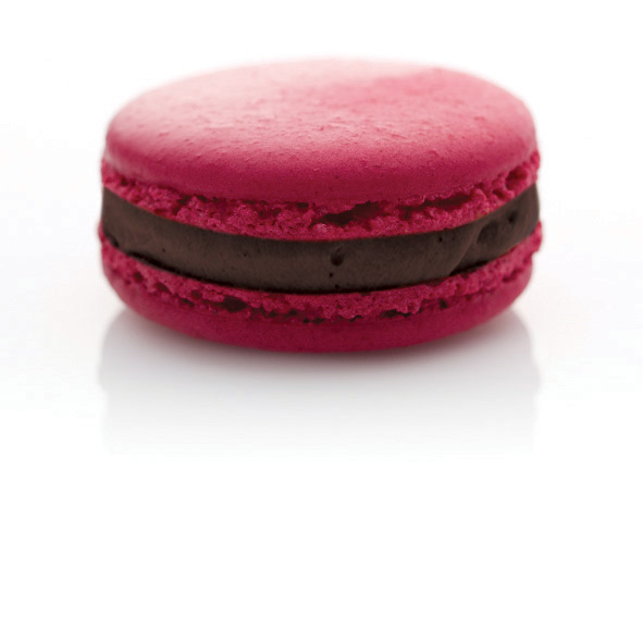 LuxBite's Champagne Cherry macaron - a perfect sweet treat for raceday.