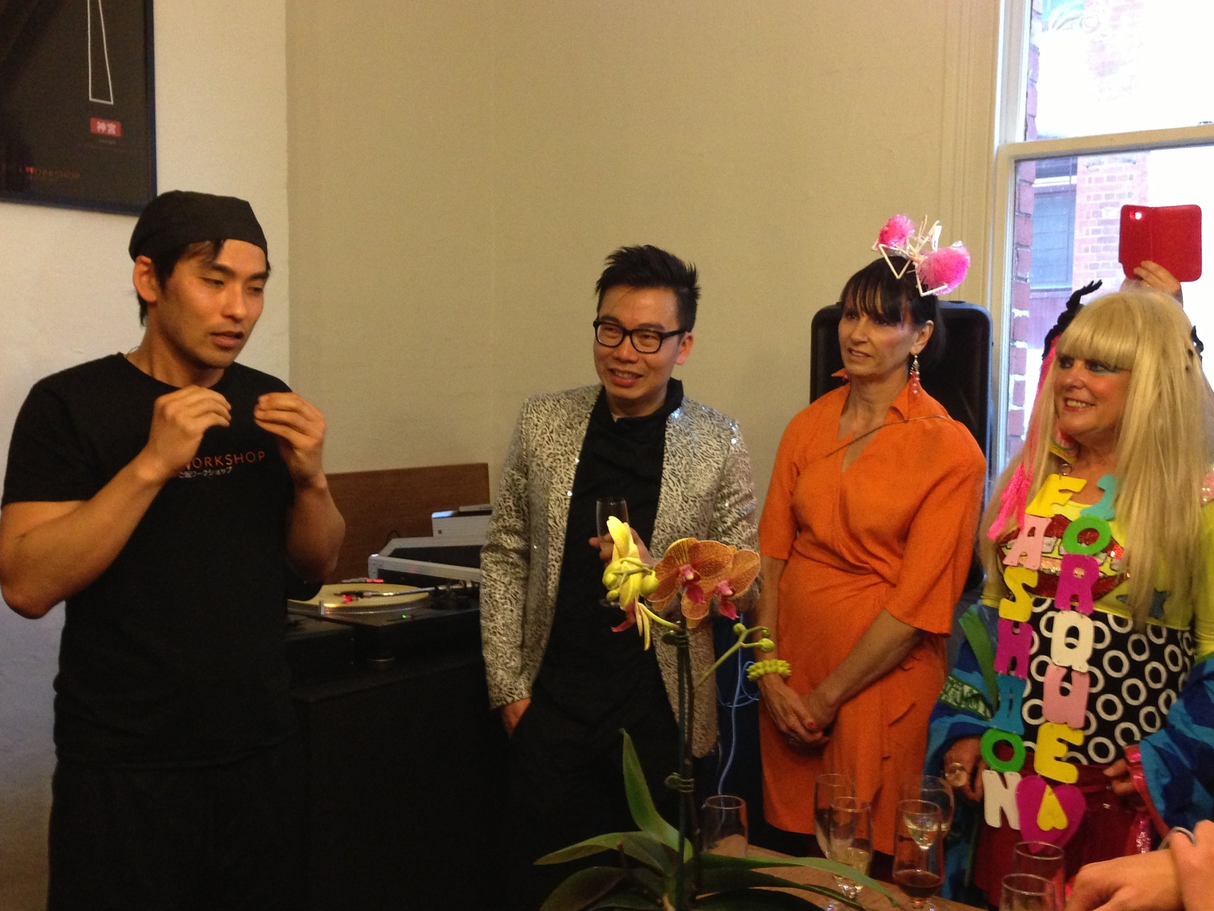 L-R Chef Tomohiro Suzuki, David Loh, Clemence Harvey and Jenny Bannister