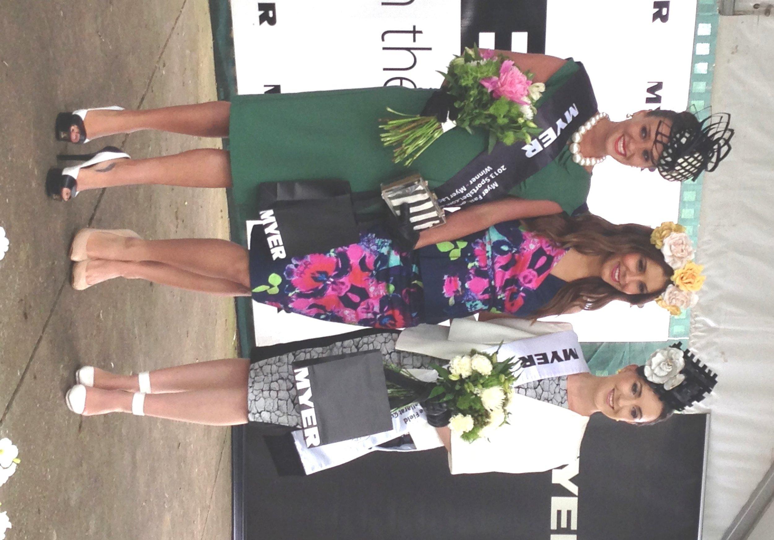 L-R Winner Brodie Worrell, lauren Phillips, Runner up Rikki-Lee Hull
