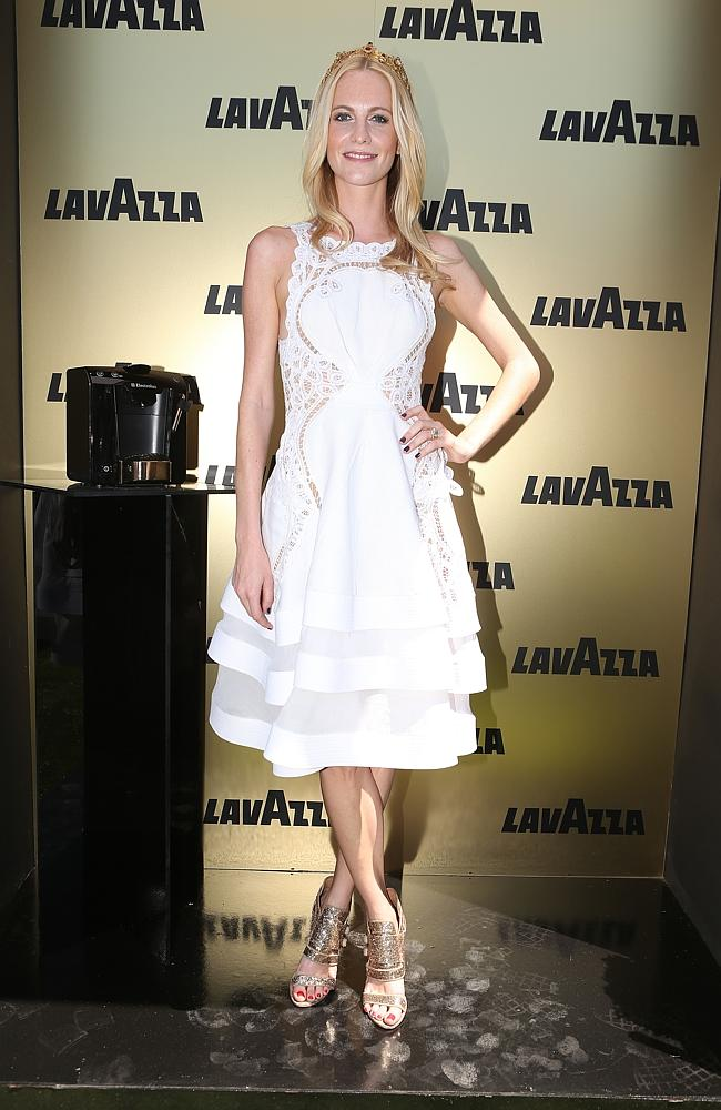Poppy Delevingne at the Lavazza Marquee on Derby Day. Photo from www. heraldsun.com.au.