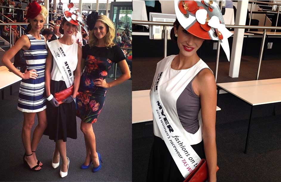 Winner Brooke Strahan with judge Kate Peck (left) and host Scherri-Lee Biggs. Photos from VRC Instagram.