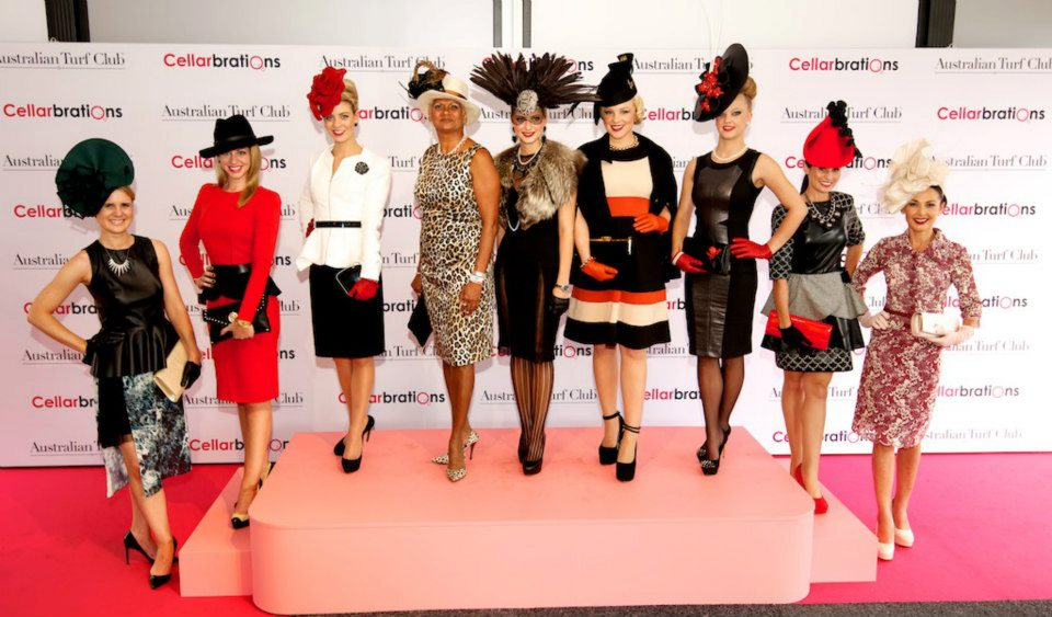 Finalists in last year's Ladies' Day Best Dressed competition, with eventual winner Breanna Davies (far left).