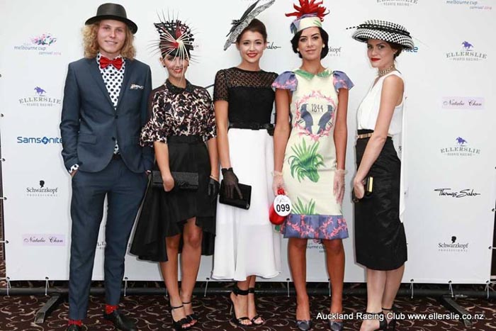 2014 Prix de Fashion finalists, from left: Kody Okeby, Carina West, Charlotte Moor, Stevie-Lee Bartle and Olivia Moor.