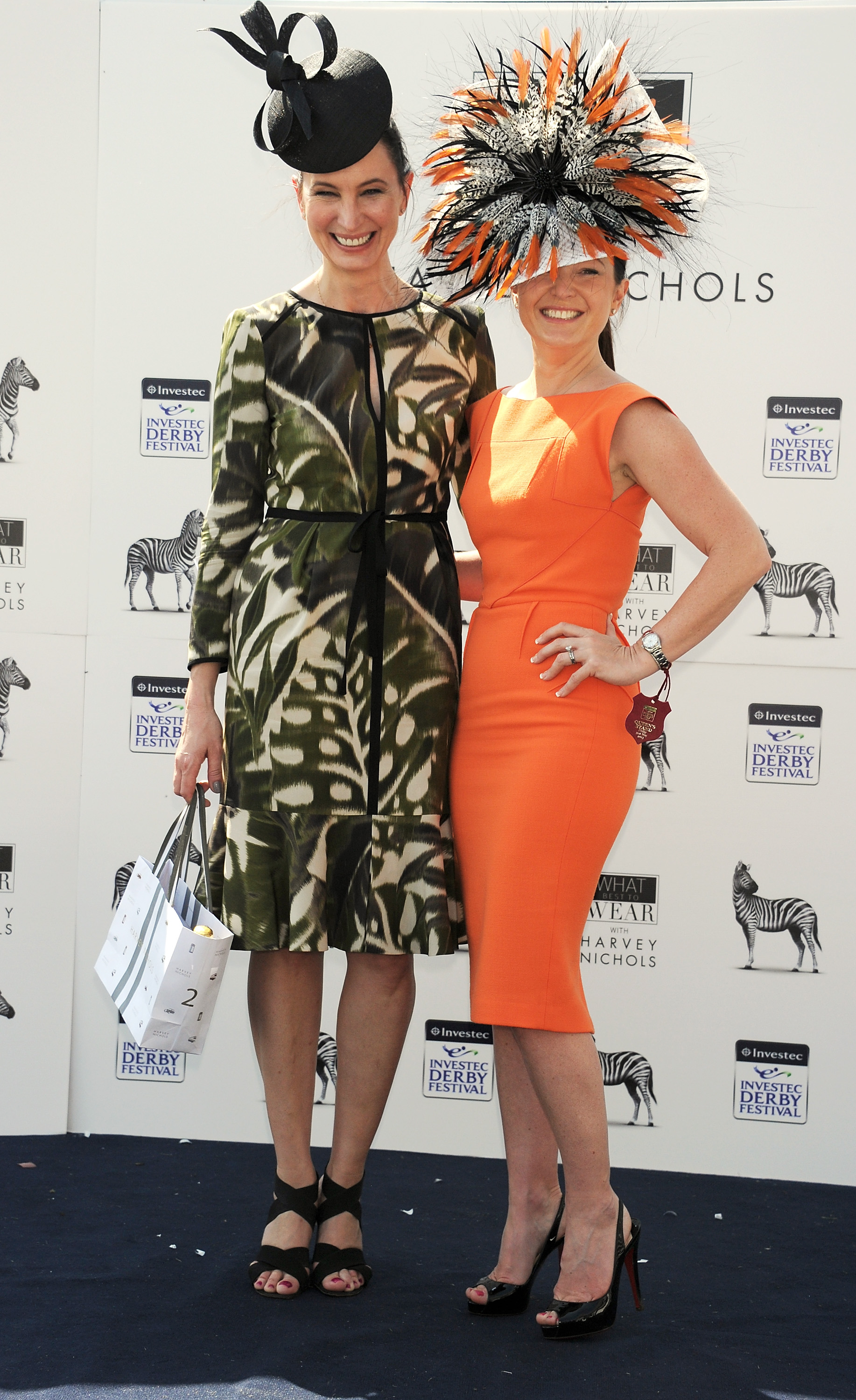 2013 What Best to Wear winner Leigh Johson (left) with Paula Reed from Harvey Nichols.