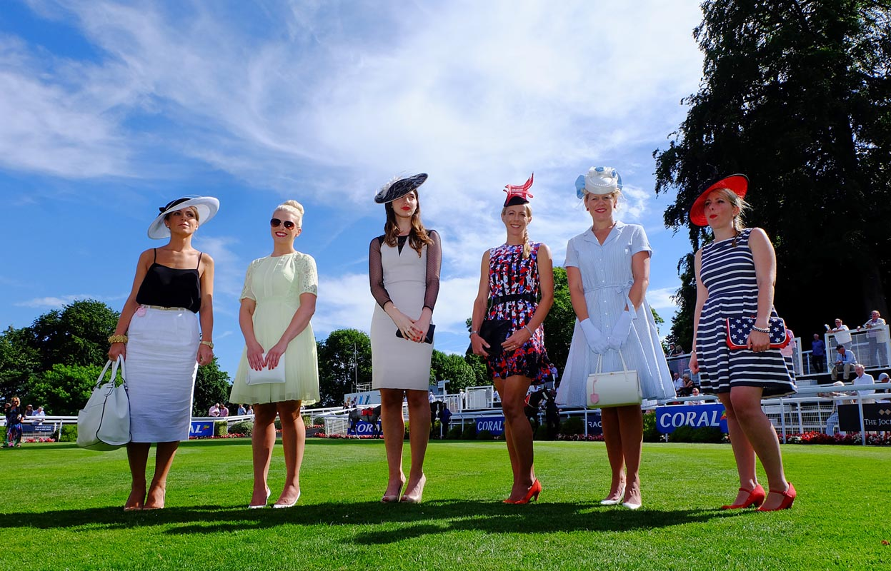 The Best Dressed competition finalists line up for judging.