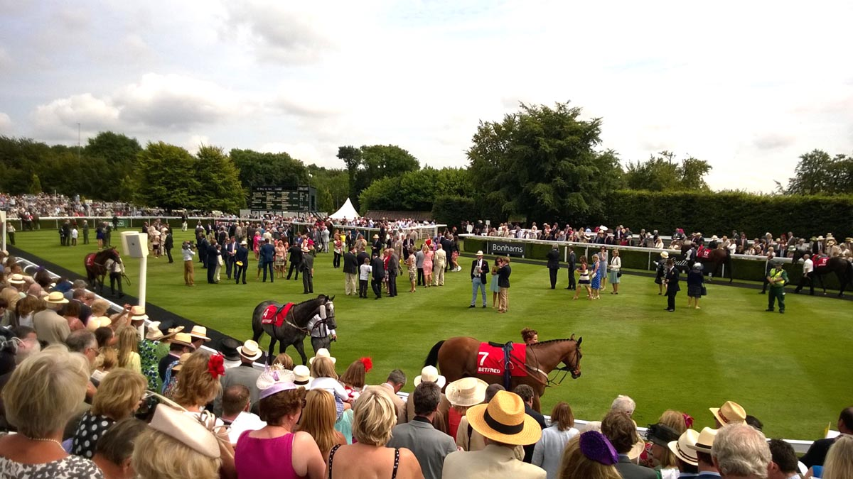 The mounting yard at Goodwood.