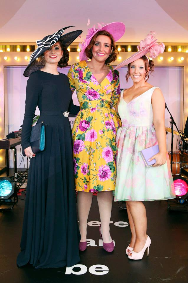 Last year's Style Award finalists L-R: Danielle Fisher, Norma Murphy and winner Becky Nightingale. Photo from Aintree Racecourse Facebook page.