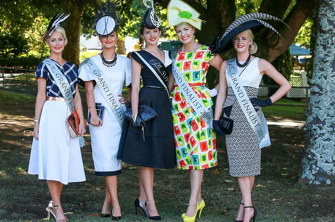 L-R: Julie Barbour, Eleanor Campbell, Charlotte Moor (winner), Emma Stroud and Alisha Maxwell. Photo from ellerslie.co.nz.