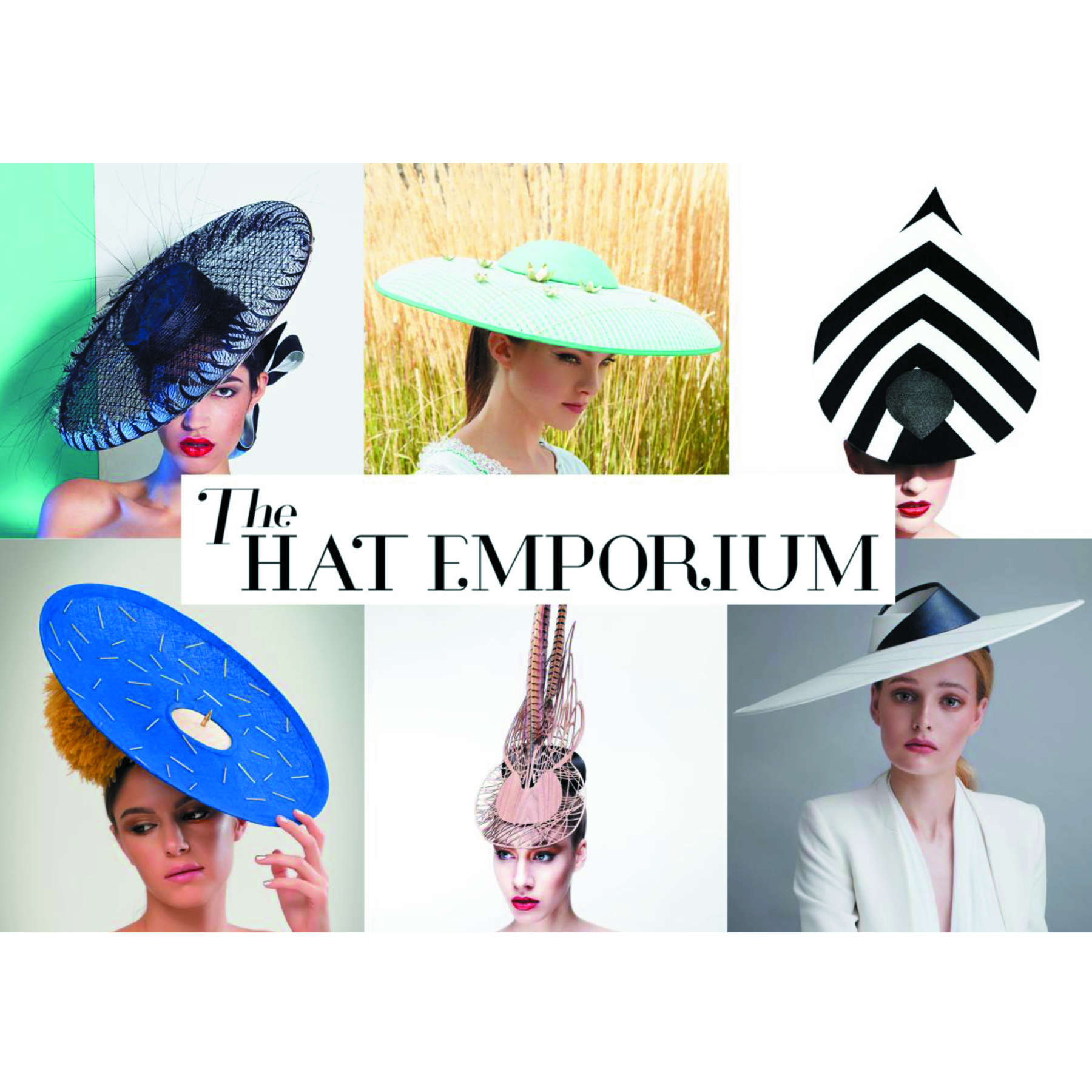 Milliners from The Hat Emporium, clockwise from top left: Lisa Tan, Lizzie McQuade, Martha Lynn, Sophie Beale, Emma Yeo and Awon Golding.