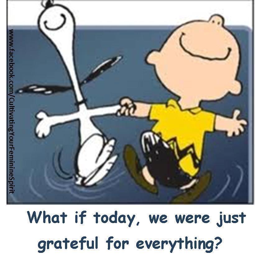 Snoopy Charlie Brown grateful