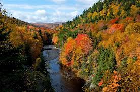 The Cabot Trail in Fall in Nova Scotia