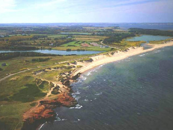 Cavendish Beach located in Prince Edward Island