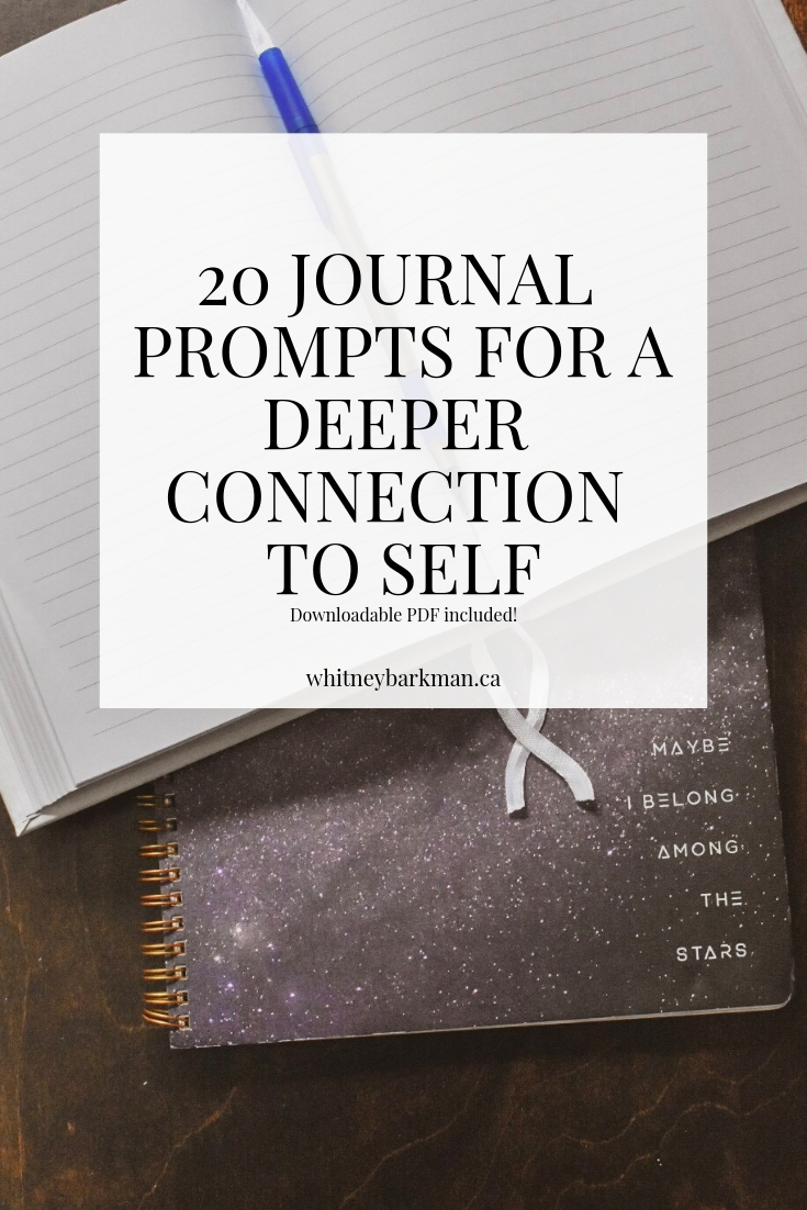 Whitney Barkman - 20 Journal Prompts for a Deeper Connection to Self