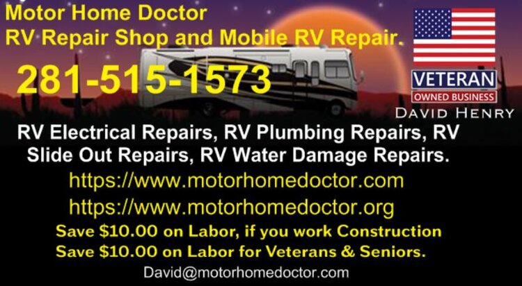 Motor Home Doctor RV Repair Shop and Mobile RV Repair, 281-515-1573