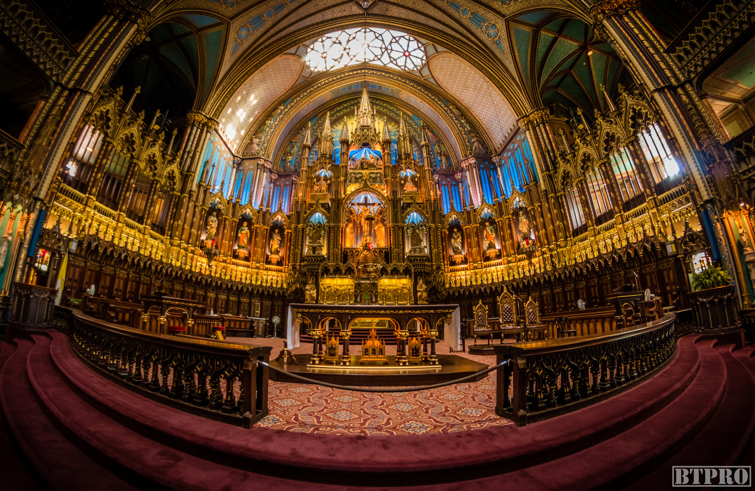 notre dame, notre dame basilica, church, cathedral, travel, place darmes, canada, fish eye, religion