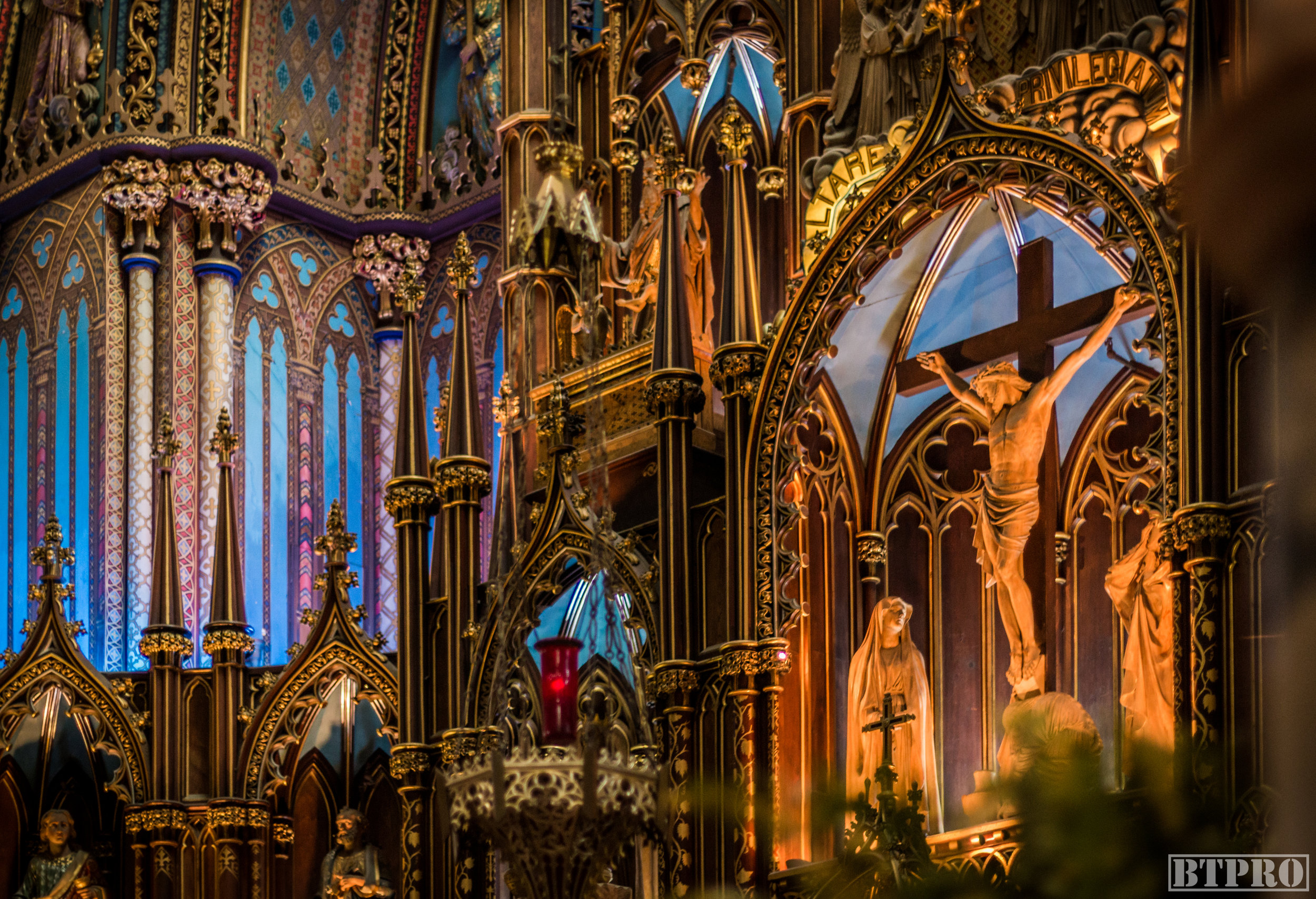 notre dame, notre dame basilica, church, cathedral, travel, place darmes, canada, religion