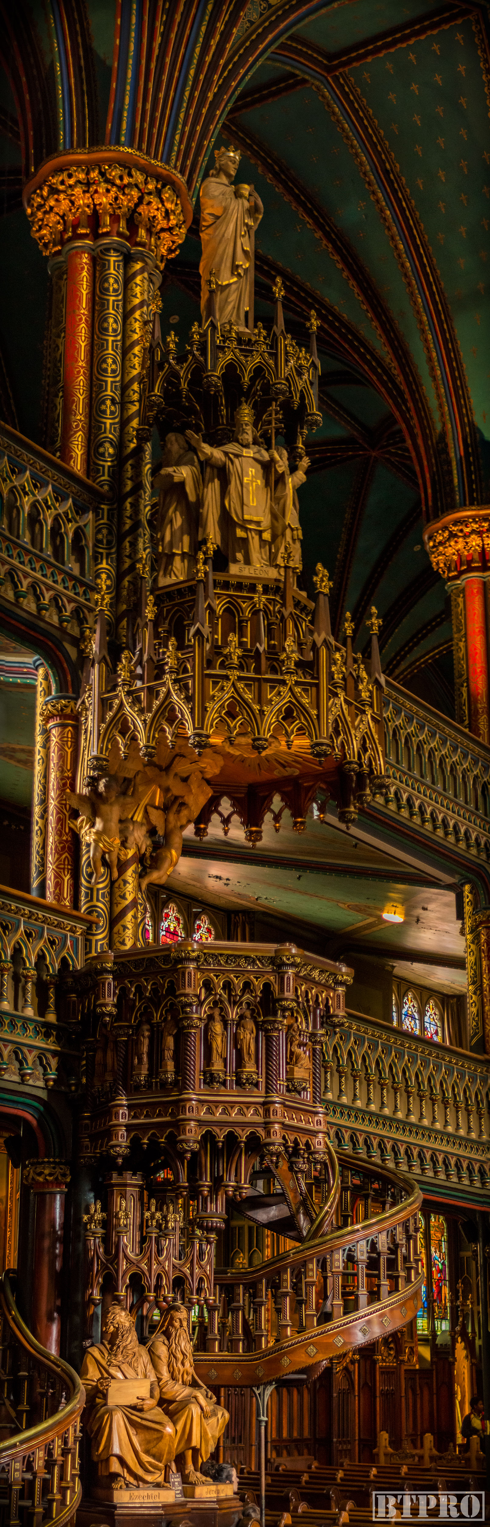 notre dame, notre dame basilica, church, cathedral, travel, place darmes, canada, religion, panorama, pano, vertical pano