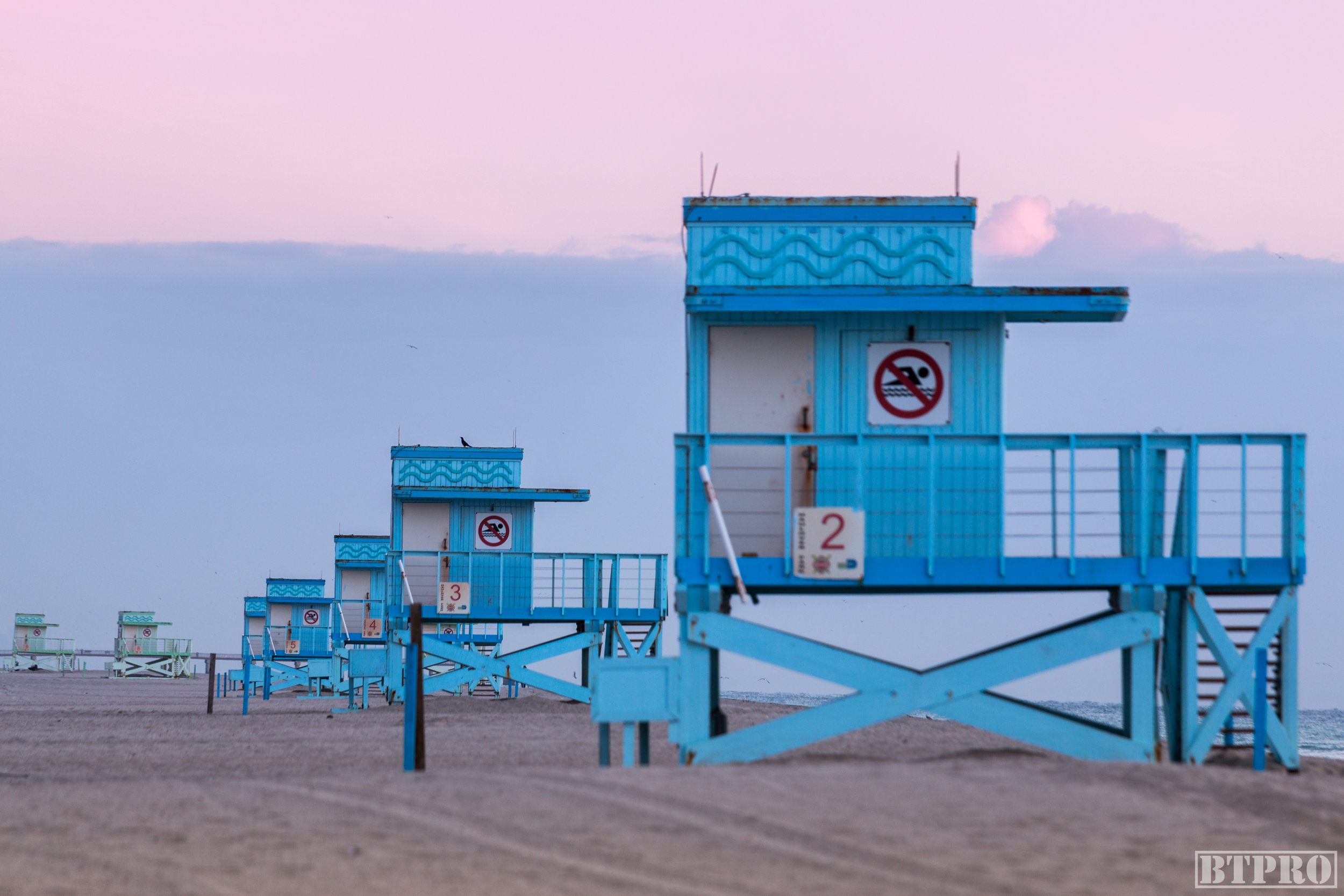 miami, miami beach, lifeguard tower, sunrise, sunrise photography, miami photographers