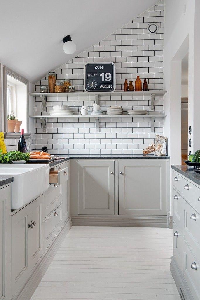 Kitchen Inspiration White Tiles Black Grout Studio Anu Reinson