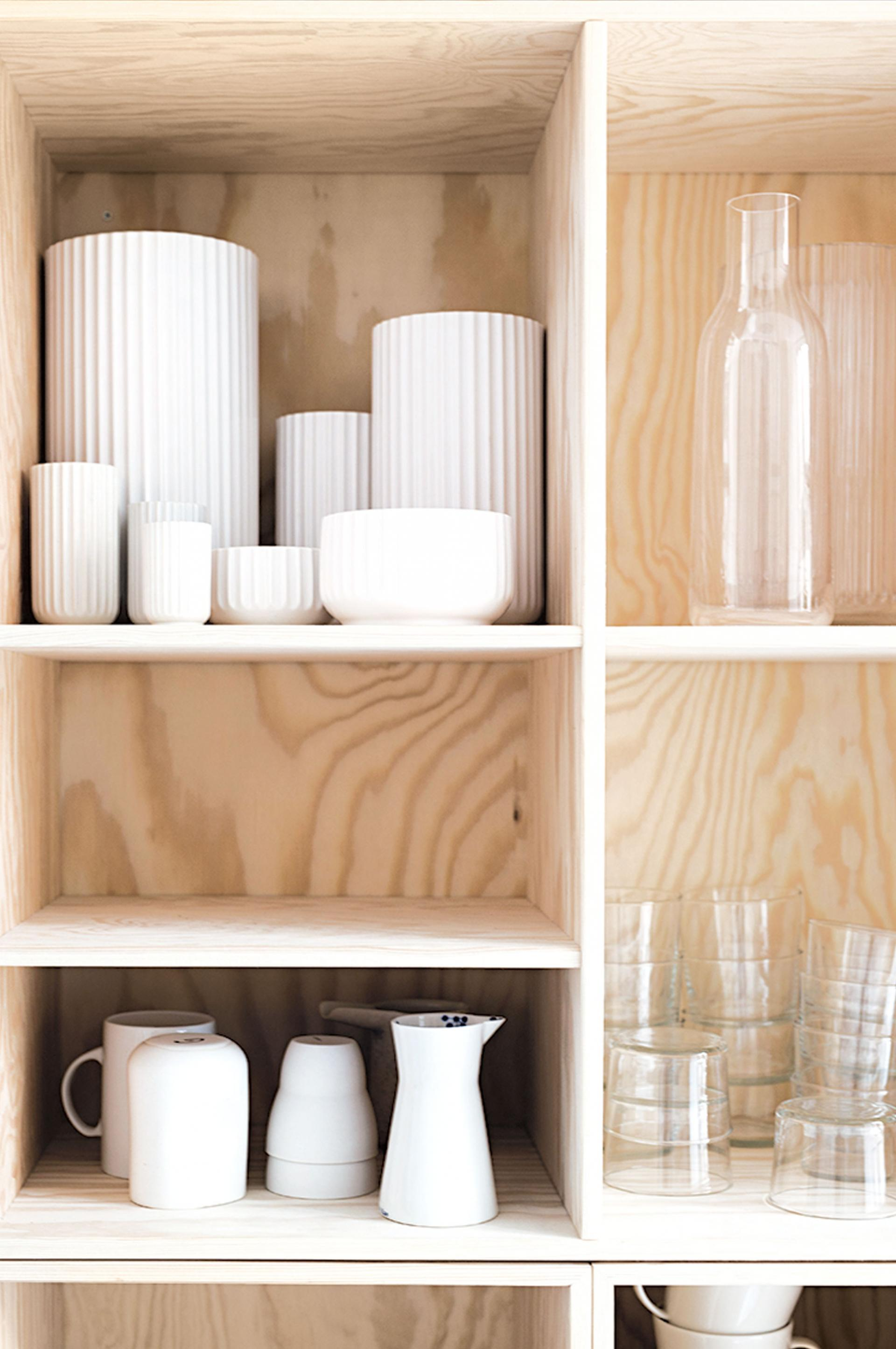 Two Looks Of A Small Kitchen With Amazing Open Shelving Studio
