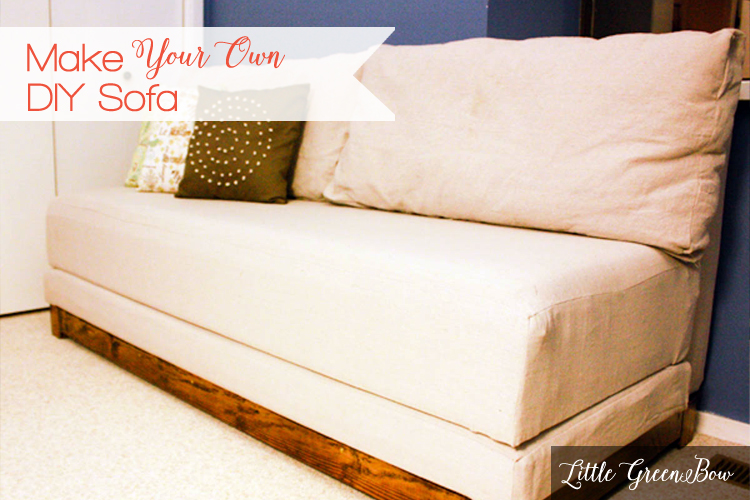 How To Make Your Own Couch And Diy Sofa Bed Little Green Bow The Wannabe Minimalist