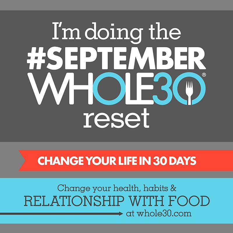 September 2017 Whole30