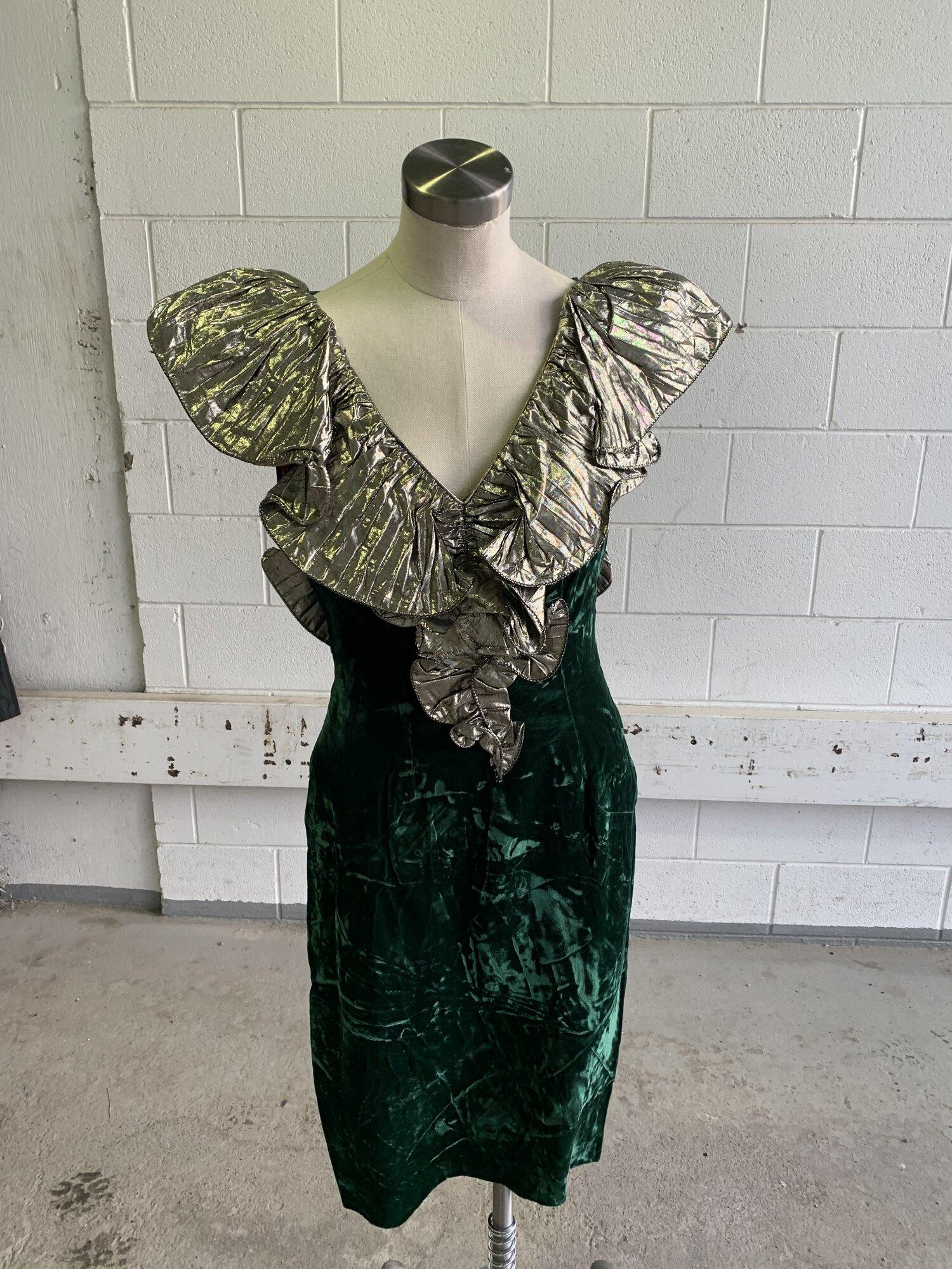 80s Velvet Cocktail Dress  The Last Temptation