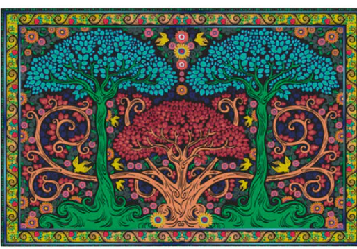 3D Tree Tapestry  The Last Temptation