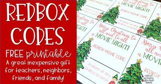 Free Redbox Code Free Printable Christmas Tag Activity After Math