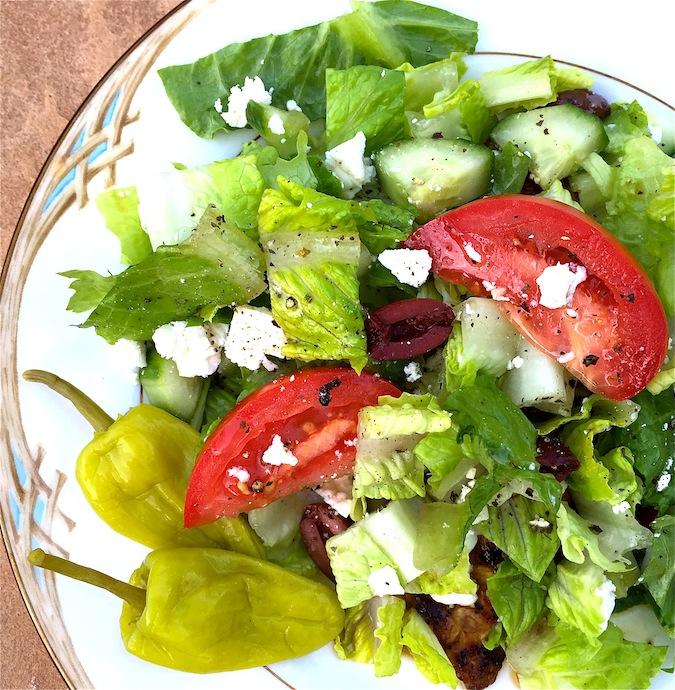 Fast Fabulous Oregano Marinated Chicken Paillard Greek Salad Glamorous Gourmet