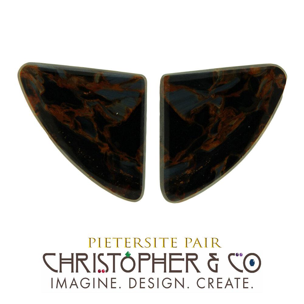 Pietersite Pair — Private Jewelers Ltd.