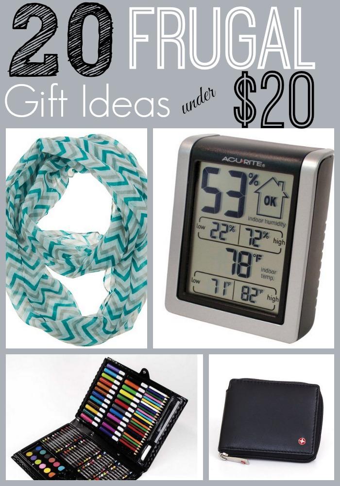 20 Frugal Gift Ideas Under 20