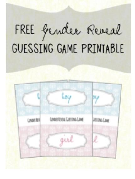 Gender Reveal Game Free Printable Frugal Fanatic