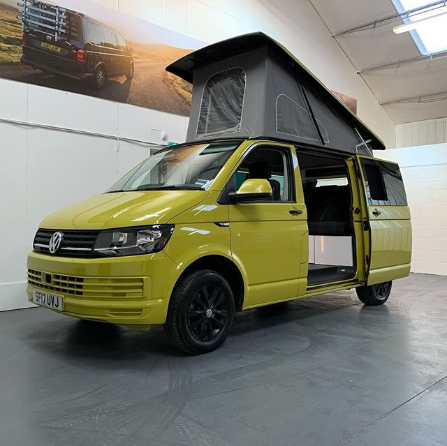 Our lovely Yellow T6 camper is for sale. This camper comes with a great spec, and a really fashionable conversion.  Link is in our Bio... #rockinvans #freedomtosleeparound #visitscotland #visitbritain #highlands #england #t6 #vwbus #vw #volkswagen #transporter #van #camper #campervan #camperlife #forsale #carsforsale #sale #salesalesale #vansforsale #escape #journey #holiday #goals #insta #blackalloys #yellow #conversion #conversionvan #camperconversion