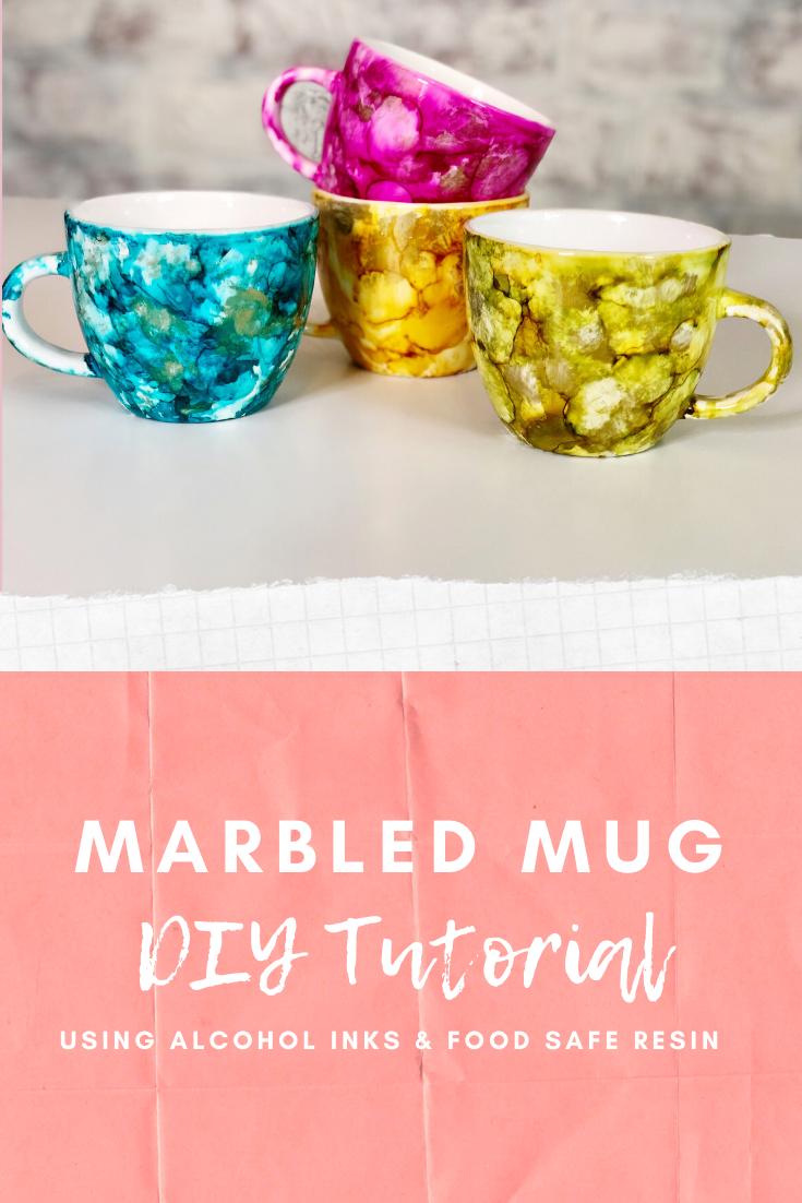 Diy Marbled Mug Crafty Gal Confessions