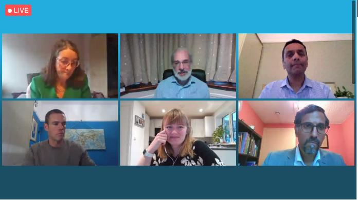 From top-left: Professor Ann McNeill, Professor Alan Boobis, Professor Sanjay Agrawal, Tom Sheldon, Jamie Hartmann-Boyce and Professor Jacob George