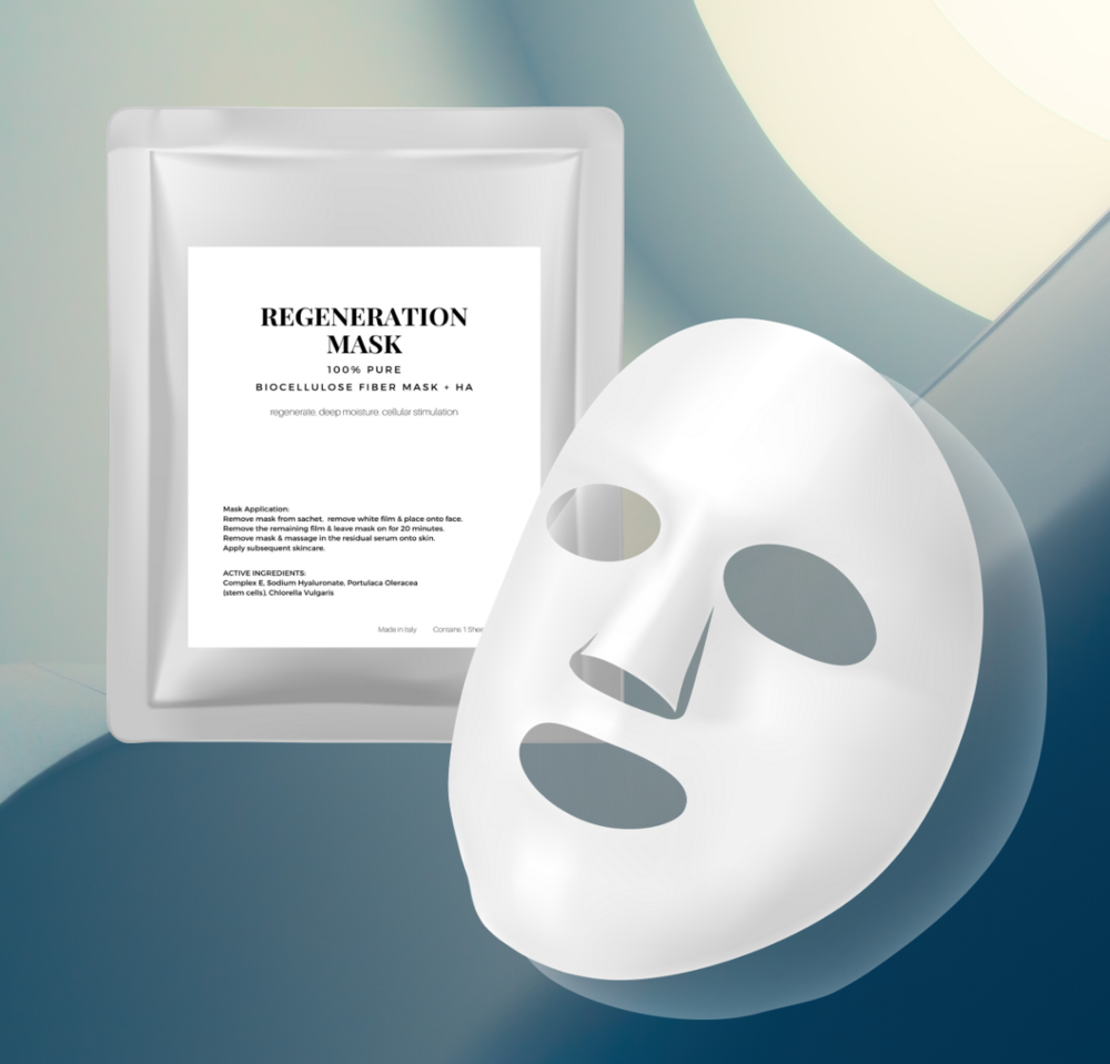 Regeneration Biocellulose Mask.   Professional grade mask for all skin types.