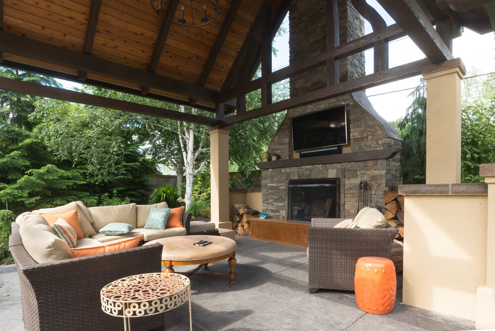 Inviting And Cozy Outdoor Fireplace Designs For Upper Arlington Oh Backyards Arj Landscape