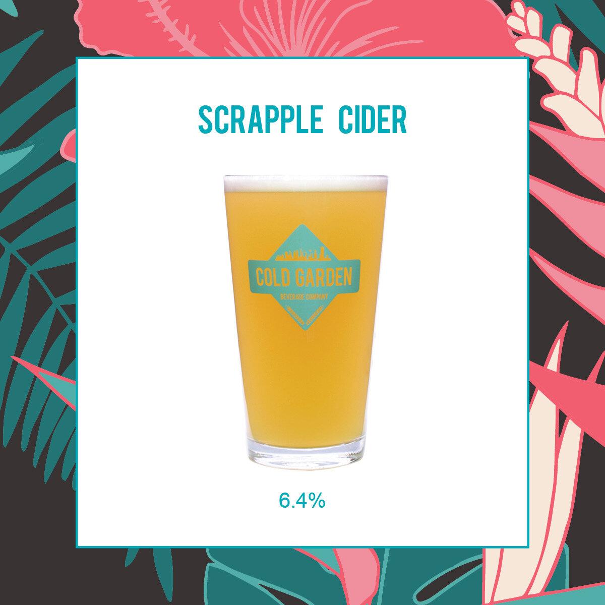 Scrapple Cider  Cold Garden Beverage Company