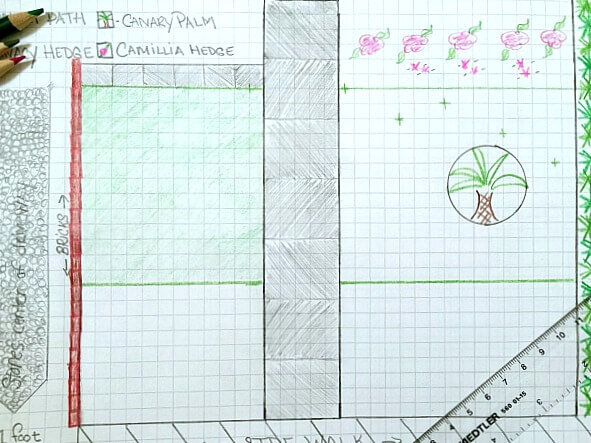 howto draw a garden plan